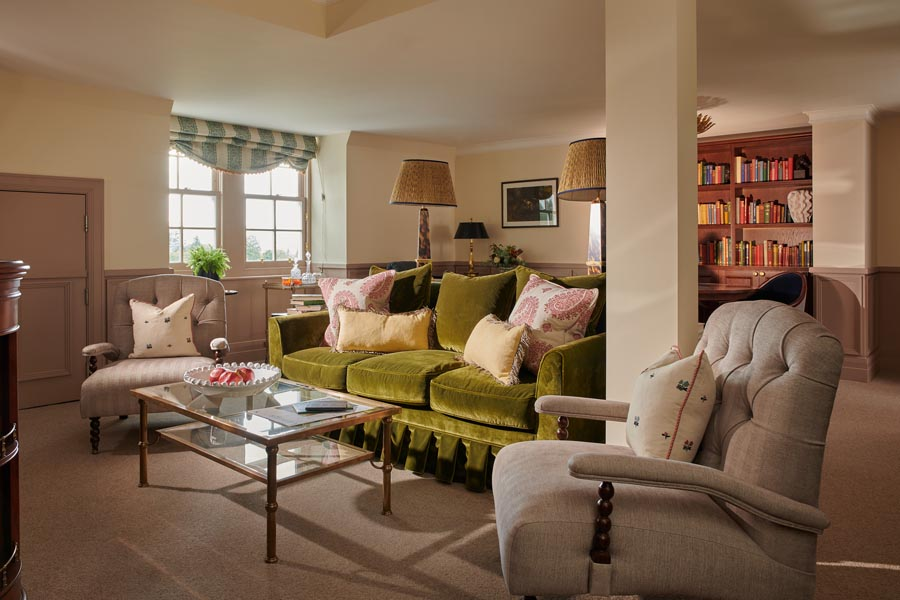A sitting room in an estate suite at Gleneagles
