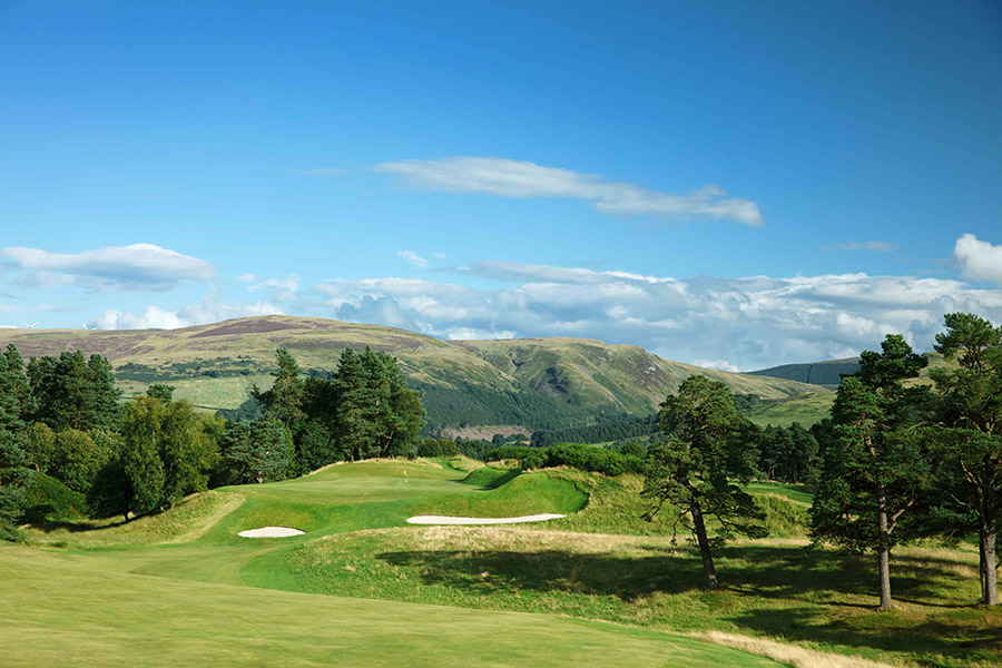 Blue skies over the King's course at Gleneagles