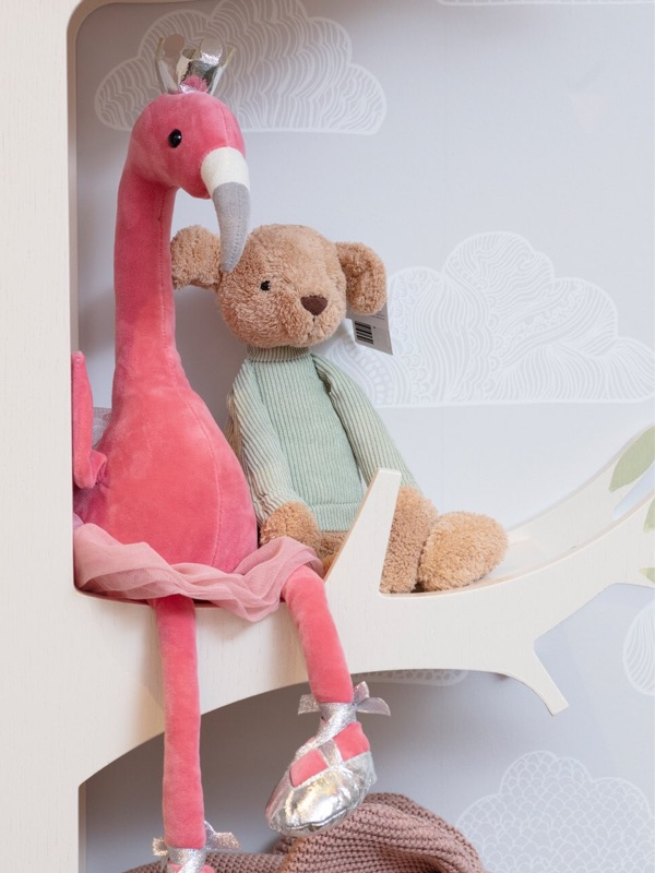 A flamingo and bear toys in Hop & Scotch