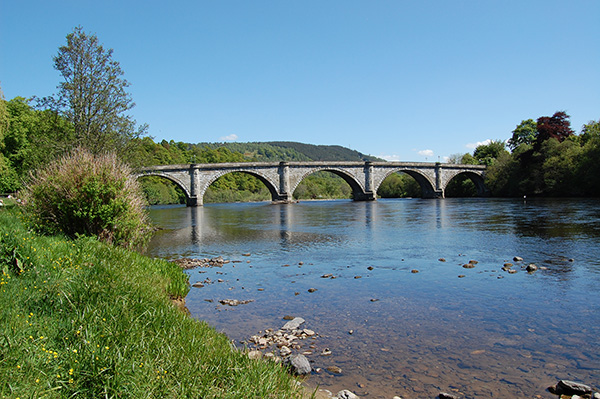 Bridge over the river tay outside Dunkeld in Perthshire