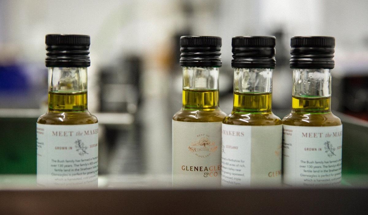 Bottles of cooking oils