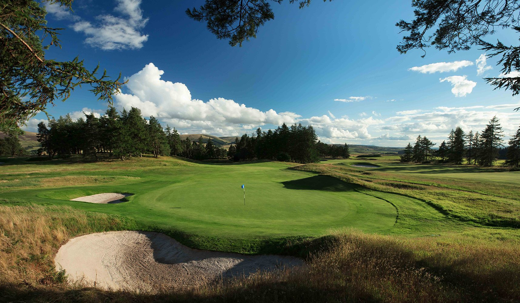 9th green of the queens course at Gleneagles