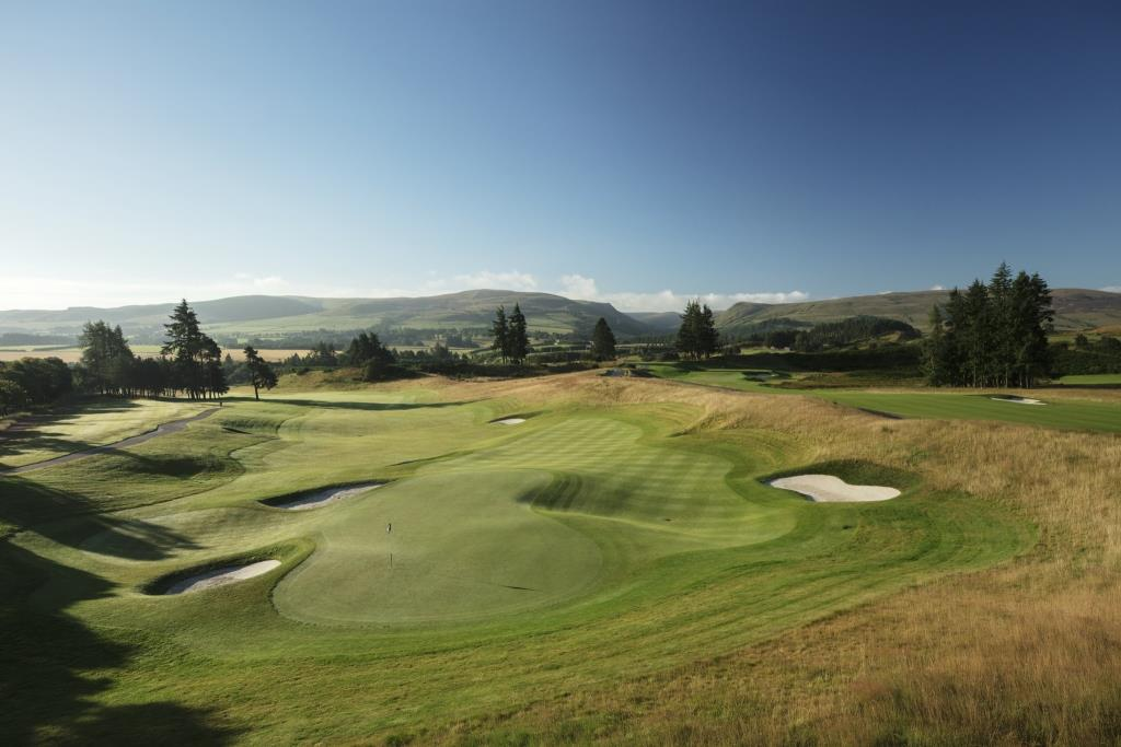 The 18th hole of the PGA course at Gleneagles