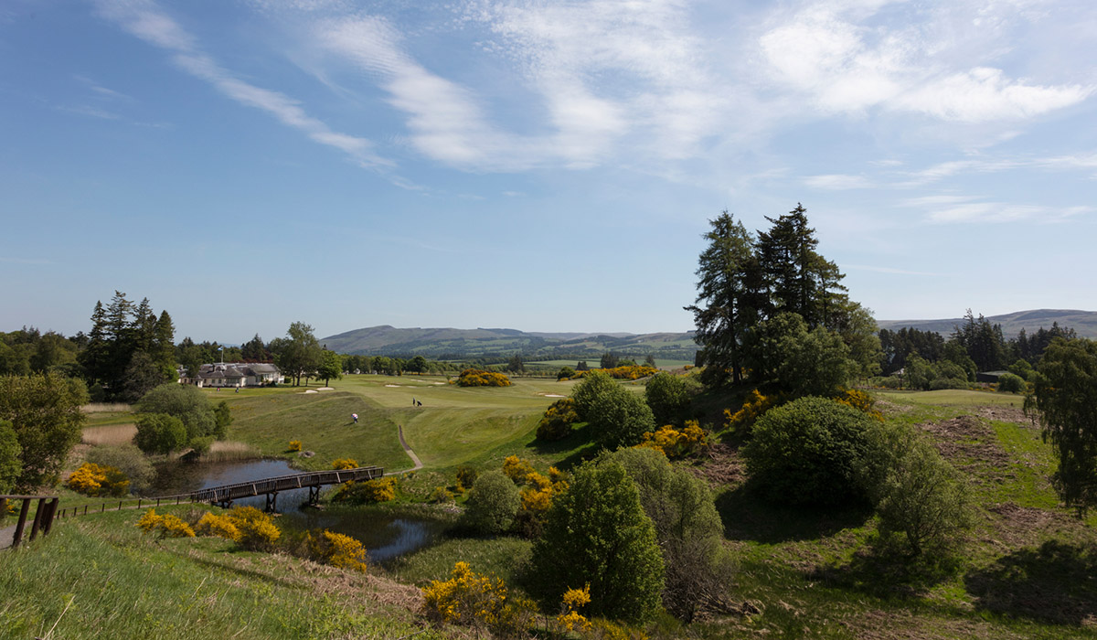 A view of the Dormy clubhouse at Gleneagles